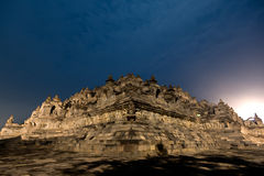 The temple of Borobudur in Indonesia. Royalty Free Stock Photo