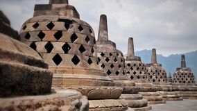 Temple of Borobudur in Indonesia royalty free stock photo