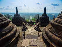 Temple Borobudur Java. This impressive temple is situated in Yogjakarta on East Java Indonesia. This hinduistic temple is one of the main attractions of Royalty Free Stock Images