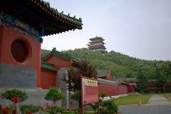 Temple Bouddha de ressort Photographie stock