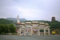 Temple Bouddha de ressort Photos stock