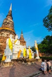 Temple bouddhiste Ayutthaya Images libres de droits