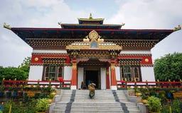 Temple bouddhiste bhoutanais dans Bodhgaya, Inde Images libres de droits