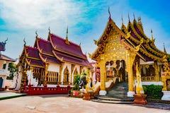 Temple bouddhiste Chiang Mai, Thaïlande Photos stock