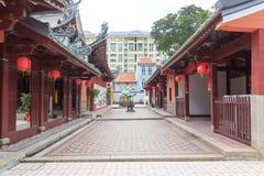 Temple bouddhiste dans Chinatown, Singapour Photographie stock libre de droits
