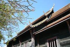 Temple bouddhiste de bâtiment architectural en Thaïlande Photo libre de droits