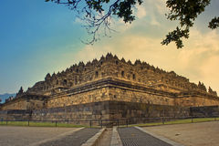 Temple bouddhiste de borobudur Photographie stock