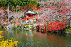 Temple bouddhiste de Daigoji, Kyoto, Japon image stock