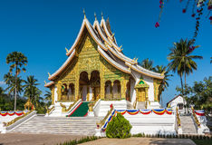 temple bouddhiste de prabang de luang du Laos photographie stock libre de droits