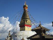 Temple bouddhiste de singe de stupa Photos libres de droits