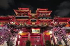 Temple bouddhiste de type asiatique à Singapour Image libre de droits