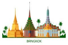 Temple bouddhiste de wat à Bangkok Thaïlande Image libre de droits
