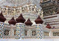 Temple bouddhiste de Wat Arun, Bangkok, Thaïlande - détail image libre de droits