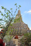 Temple bouddhiste de Wat Arun, Bangkok, Thaïlande - détail photos stock