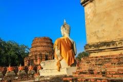 Temple bouddhiste de Wat Yai Chai Mongkhon-a à Ayutthaya, Thaïlande Photos libres de droits
