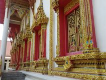 Temple bouddhiste de Windows Photo stock