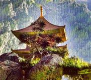 Temple bouddhiste de zen Photo stock