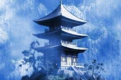 Temple bouddhiste de zen Photos stock