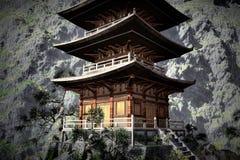 Temple bouddhiste de zen Image libre de droits