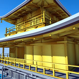 Temple bouddhiste Kinkakuji Photos stock