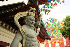 Temple bouddhiste à Singapour Photos stock