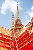 Temple bouddhiste thaïlandais d'art Photographie stock libre de droits