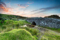 Temple Bridge on Bodmin Moor. An ancient granite stone bridge on bodmin Moor in Cornwll Stock Photography