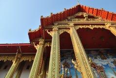 Temple buakwan Thaïlande de nonthaburi de wat bouddhiste de bâtiment d'architecture Image stock