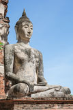Temple & Buddha at Ayutthaya, unseen of Thailand. Impressive & amazing at Ayuthaya of Thailand stock photo