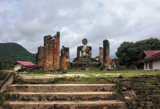 Temple with Buddha statue Stock Photo