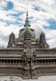 Temple Buddhism. Scene buddhism temple in Bangkok Royalty Free Stock Photography