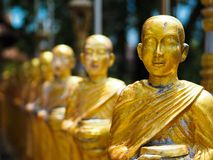 Gold statue in sihanoukville royalty free stock image