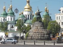 St. Sophia Cathedral in Kiev. Ukraine. The temple built in the first half of the 11th century by the prince Yaroslav. One of sights of the capital of Ukraine Royalty Free Stock Photography
