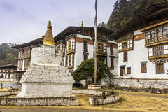 Temple in Bumthang Stock Photography