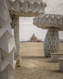 Temple of Burning Man  Stock Photography