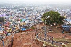 Temple célèbre de Rockfort Ucchi Pillayar Image libre de droits