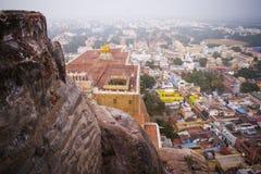 Temple célèbre de Rockfort Ucchi Pillayar Images libres de droits