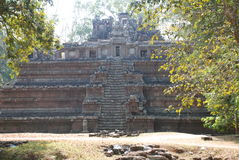 Temple caché chez Angkor Vat Image libre de droits