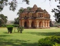 Temple at the Cacred Center of Vijayanagara Stock Photos