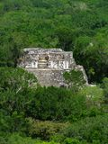 Temple at Calakmul Stock Photo