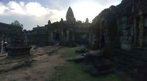 Temple Cambodge de Bakong à la province de Siam Reap Image stock