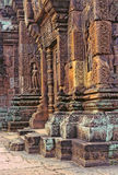 Temple-Cambodia. Banteay Srei temple at the UNESCO World Heritage site ruins of Angkor Wat archaeological park- Siem Reap, Cambodia Royalty Free Stock Photography