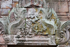 Temple on the Cambodia border. royalty free stock photo