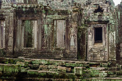Temple in the Cambodian Jungle. The Angkor complex is extensive and inspiring Stock Photos
