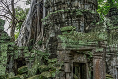Temple in the Cambodian Jungle. The Angkor complex is extensive and inspiring Royalty Free Stock Photos