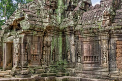 Temple in the Cambodian Jungle Stock Photo