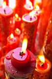 Temple candles Royalty Free Stock Photo