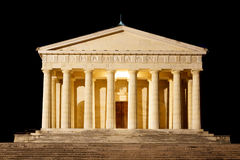 Temple of Canova night view. Roman columns Royalty Free Stock Images