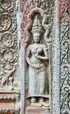 Temple Carvings, Cambodia Royalty Free Stock Photography