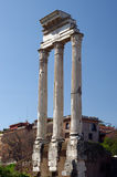 Temple of Castor and Pollux Stock Images